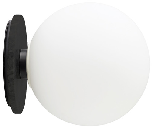 Applique a LED TR Bulb, Bianco, nero