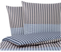 Mako-Satin Wendebettwäsche Chill Double Stripe
