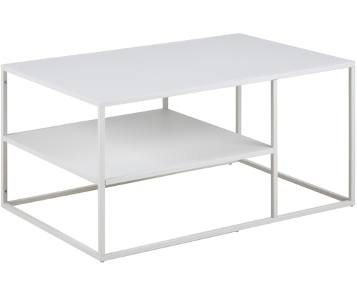 Table Basse Metal Blanc.Table Basse Blanche En Metal Newton