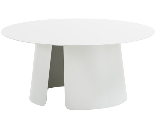 Table moderne de jardin Feel, Blanc
