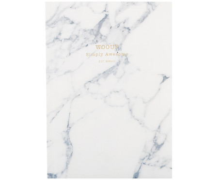 Notizbuch White Marble