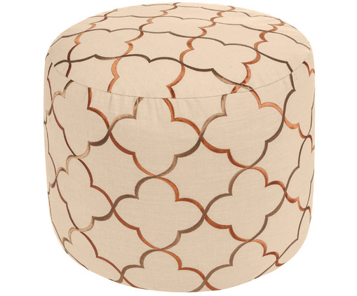 Pouf Persia, Beige, gold