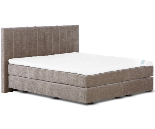 Premium fluwelen boxspringbed Lacey, Taupe