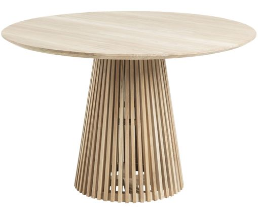 Ronde massief houten eettafel Jeanette in scandi design