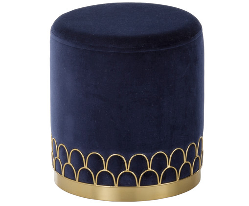 Samt-Hocker Tiara, Navy