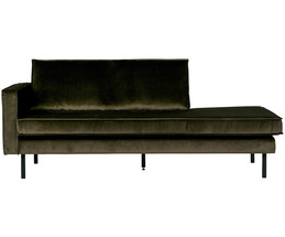 chaise longue in velluto rodeo schienale a sinistra westwingnow. Black Bedroom Furniture Sets. Home Design Ideas