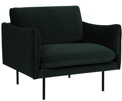 samt sessel moby in gr n westwingnow. Black Bedroom Furniture Sets. Home Design Ideas