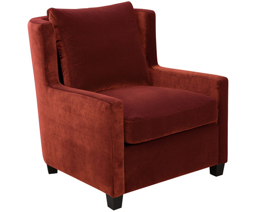 Samt sessel in rot westwingnow for Samt sessel rot