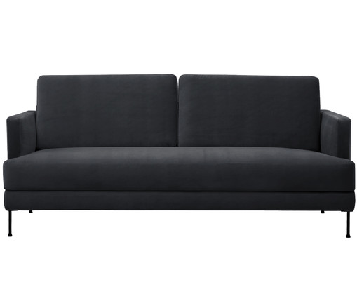 samt sofa fluente 3 5 sitzer in dunkelgrau westwingnow. Black Bedroom Furniture Sets. Home Design Ideas