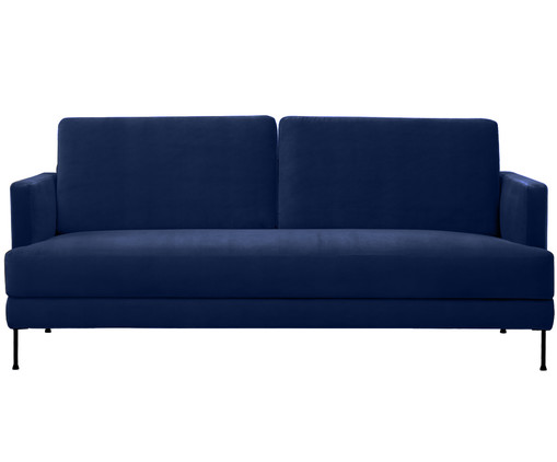 samt sofa fluente 3 5 sitzer in blau westwingnow. Black Bedroom Furniture Sets. Home Design Ideas