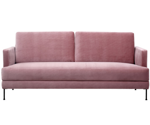 samt sofa fluente 3 5 sitzer in rosa westwingnow. Black Bedroom Furniture Sets. Home Design Ideas