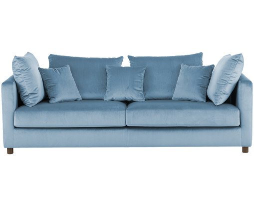 3 sitzer samt sofa georgia in blau westwingnow. Black Bedroom Furniture Sets. Home Design Ideas