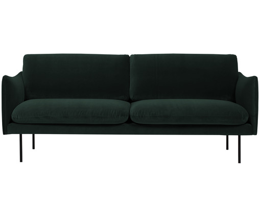 samt sofa moby 2 sitzer in gr n westwingnow. Black Bedroom Furniture Sets. Home Design Ideas