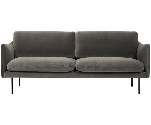 samt sofa moby 2 sitzer in braun westwingnow. Black Bedroom Furniture Sets. Home Design Ideas