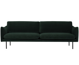 samt sofa moby 3 sitzer in gr n westwingnow. Black Bedroom Furniture Sets. Home Design Ideas