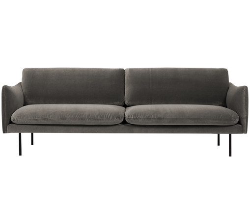 samt sofa moby 3 sitzer in braun westwingnow. Black Bedroom Furniture Sets. Home Design Ideas