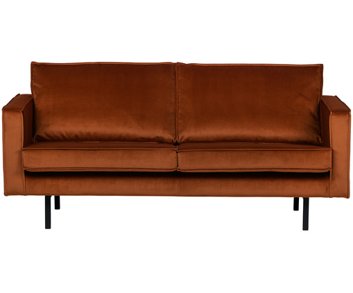 Samt sofa in rot westwingnow for Sofa 1 5 sitzer