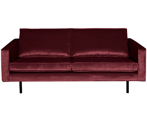 samt sofa in rot westwingnow. Black Bedroom Furniture Sets. Home Design Ideas