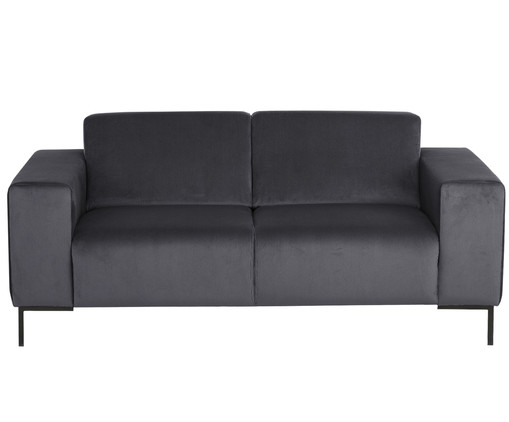 2 sitzer samt sofa savanna in grau westwingnow. Black Bedroom Furniture Sets. Home Design Ideas