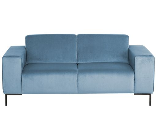 2 sitzer samt sofa savanna in blau westwingnow. Black Bedroom Furniture Sets. Home Design Ideas