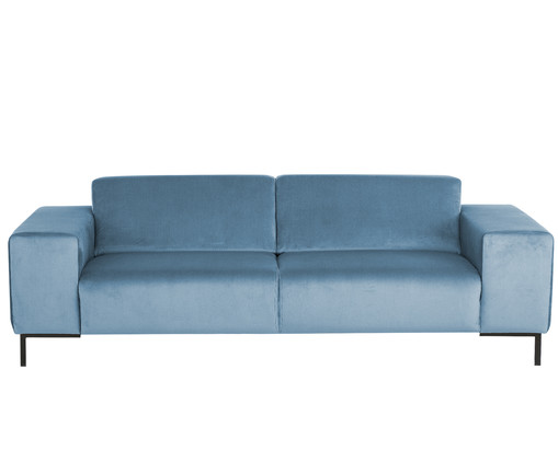 3 sitzer samt sofa savanna in blau westwingnow. Black Bedroom Furniture Sets. Home Design Ideas