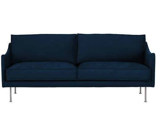 samt sofa shine 3 sitzer in blau westwingnow. Black Bedroom Furniture Sets. Home Design Ideas