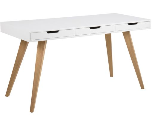 Bureau Estelle, Wit, essenhout