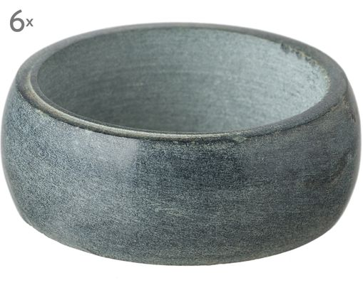 Ronds de serviette Soap Stone, 6 pièces, Anthracite