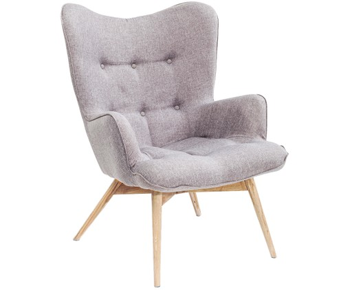 Fauteuil Vicky, Gris