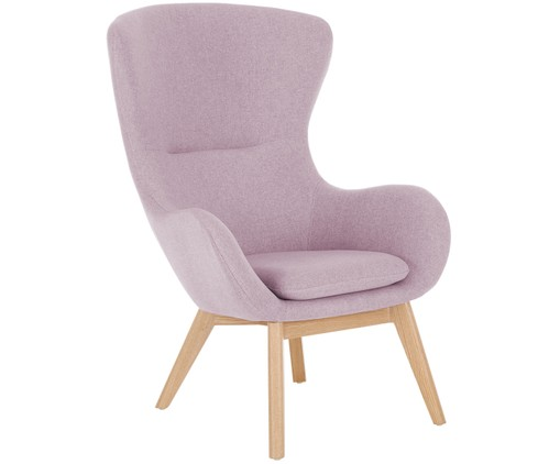 Fauteuil Wing, Rose