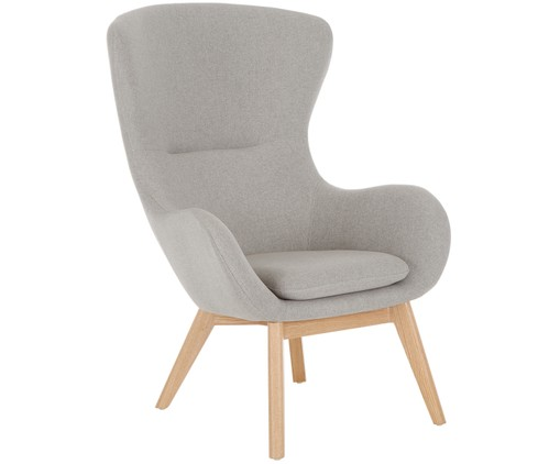 Fauteuil Wing, Gris