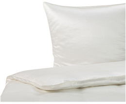 Seiden-Bettwäsche Satin White