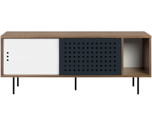 sideboard in walnuss schwarz wei westwingnow. Black Bedroom Furniture Sets. Home Design Ideas