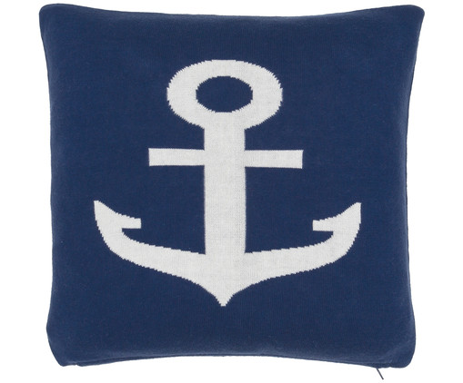 strick kissenh lle anchor in marineblau cremewei westwingnow. Black Bedroom Furniture Sets. Home Design Ideas
