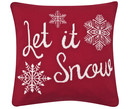 Housse de coussin en tricot Let it Snow