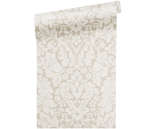 Carta da parati Ornament Flower, Beige