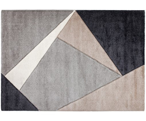 Tappeto My Broadway, Taupe, beige, antracite, grigio