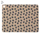 Manteles individuales Leopard, 2 uds.