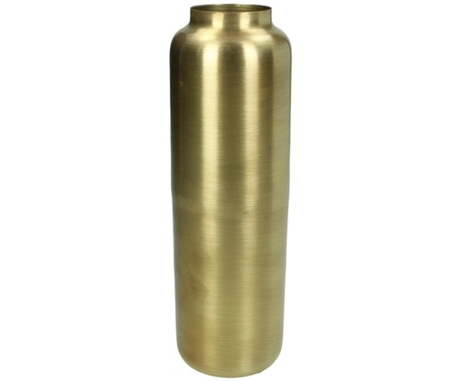 Vase Blackwater aus Metall in Gold