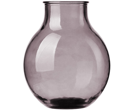 Vase Winter Glass, Transparent, Grau