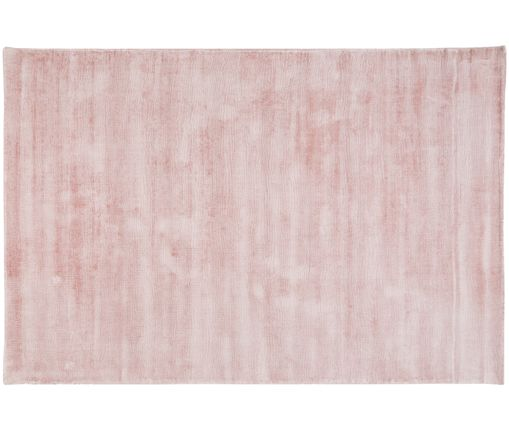Tapis en viscose Jane, Rose