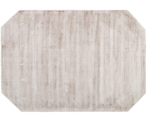 Tapis en viscose Jane Diamond, Gris clair