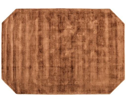 Tapis en viscose Jane Diamond, Couleur caramel