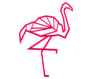 Wandobject Flamingo