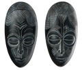 Decoratief wandobject Masks, 2-delig