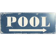 Wandschild Pool