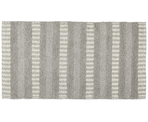 Wollteppich Toini, Taupe, Creme